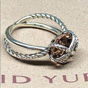 DY morganite & diamond wrap ring